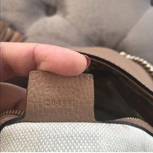 Gucci Bags - Gucci Camelia Camel Pebbled Soho Shoulder Handbag